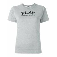 Comme Des Garçons Play Camiseta Com Logo Estampado - Cinza ... 1bace19baeb53