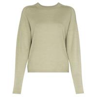 Carcel Suéter Decote Careca De Tricô - Verde