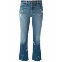 J Brand Calça Jeans Cropped Flare - Azul
