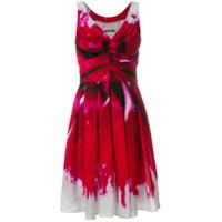 Moschino Vestido Com Franzido - Vermelho