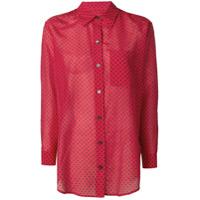 Equipment Camisa Com Estampa De Estrelas - Vermelho