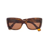 Balenciaga Eyewear Óculos De Sol Tartarugado - Marrom