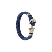Paul Hewitt Bracelete de corda com âncora - Azul