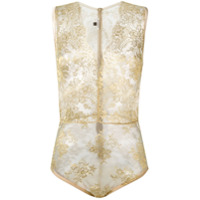 Gilda & Pearl 'harlow' Lace Body - Metálico