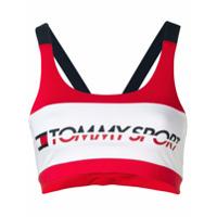 Tommy Hilfiger Top Esportivo Com Logo - Branco