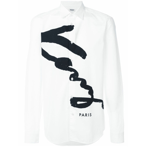 Kenzo Camisa com estampa 'Kenzo' - Branco