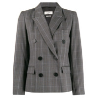 Isabel Marant Étoile Fitted Checked Blazer - Cinza