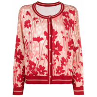 Twinset Cardigan Com Estampa Floral - Rosa