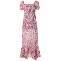 Raquel Diniz Vestido Floral De Chiffon - Rosa