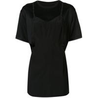 Maison Margiela Camiseta Com Detalhe Drapeado - Preto