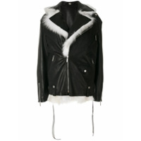 Saint Laurent Jaqueta Biker Oversized - Preto