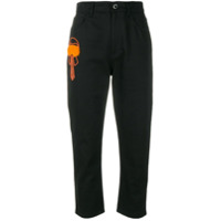 Fendi Calça Jeans 'karl Lagerfield' Cropped - Preto