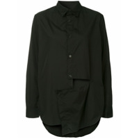 Y's Cut-Out Asymmetric Shirt - Preto