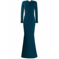 Safiyaa London Vestido De Festa Sereia - Azul