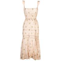 Brock Collection Vestido Midi Com Estampa Floral - Estampado
