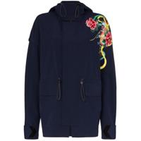 Angel Chen Parka Com Estampa Floral - Azul