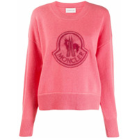 Moncler Logo Patch Sweater - Rosa