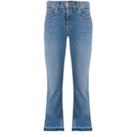 7 For All Mankind Calça Jeans Cintura Alta Destroyed - Azul