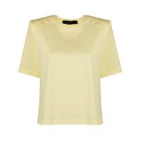 Federica Tosi Camiseta Decote Careca Com Ombros Estruturados - Amarelo