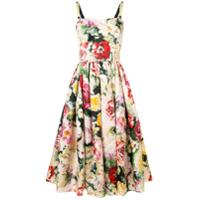 Dolce & Gabbana Vestido Evasê Com Estampa Floral - Rosa