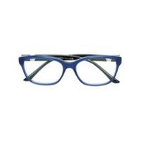 Bulgari Óculos De Grau Quadrado - Azul