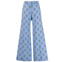 Alberto Biani Calça Com Estampa Geométrica - Azul
