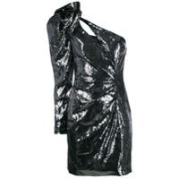 Dundas Vestido Ombro Único Com Paetês - Metálico
