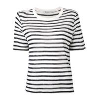 T By Alexander Wang Camiseta Listrada - Branco