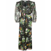 Rixo London Vestido Floral 'bonnie' - Preto