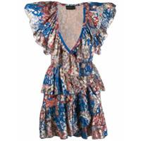 Dundas Vestido Estampado De Luréx - Azul