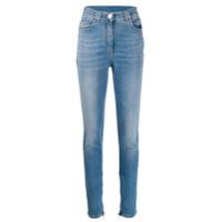 Balmain Calça Jeans Skinny Destroyed - Azul
