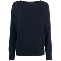 Incentive! Cashmere Suéter Oversized - Azul