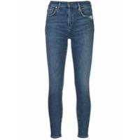Agolde Calça Jeans Skinny Cropped - Azul