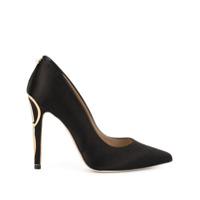 Ingie Paris Sapato Com Salto Metalizado - Preto
