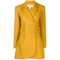 Matériel Button Panelled Blazer Jacket - Amarelo