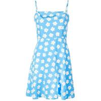 Hvn Vestido Com Estampa Floral - Azul