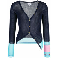 I-Am-Chen Silk Panelled Cardigan - Azul