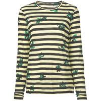 Proenza Schouler Camiseta Listrada Com Estampa Floral - Verde