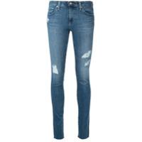 Ag Jeans Calça Jeans Skinny Com Efeito Desgastado - Azul