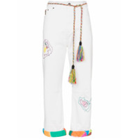 Mira Mikati Calça Jeans Reta Com Bordado - Branco