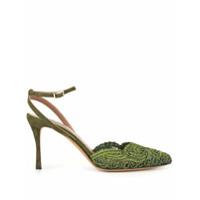 Tabitha Simmons Sapato Sen Floret Com Renda - Verde