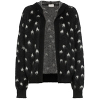 Saint Laurent Cardigan Com Padronagem - Preto