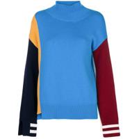 Mrz Suéter Color Block - Azul