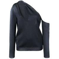 Cushnie Suéter Um Ombro Só - Preto