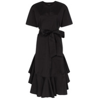 Lee Mathews Eleanor Stretch Cotton Shirt Dress - Preto