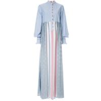 Costarellos Vestido Longo Estampado - Azul