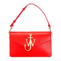 JW Anderson Bolsa de couro com logo - Vermelho