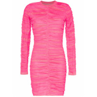 House Of Holland Vestido Franzido Com Tule - Rosa