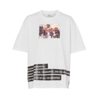 Burberry Camiseta Com Estampa 'montage' - Branco