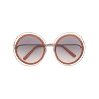 Chloé Eyewear Óculos De Sol 'carlina' - Metálico